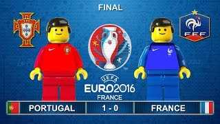 Video Euro 2016 Final : Portugal vs France 1-0 ( Film in Lego Football Highlights ) MP3, 3GP, MP4, WEBM, AVI, FLV Juni 2017