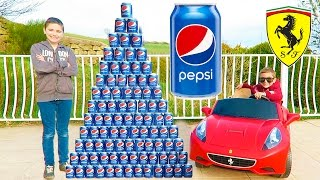 Video CRAZY PEPSI CHALLENGE vs MINI FERRARI PRANK ! 100 cans Pyramid ! MP3, 3GP, MP4, WEBM, AVI, FLV November 2017