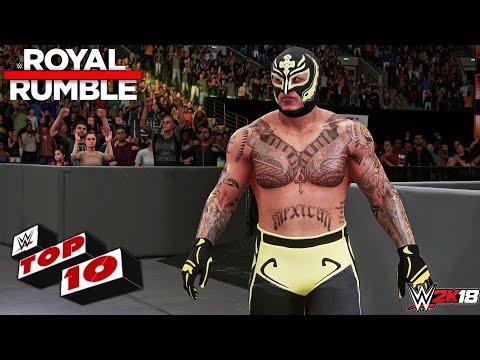 WWE 2K18 - Top 10 Royal Rumble 2018 Moments!