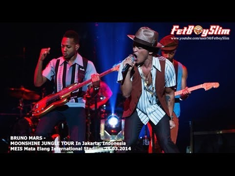 BRUNO MARS – TREASURE Live in Jakarta, Indonesia 2014