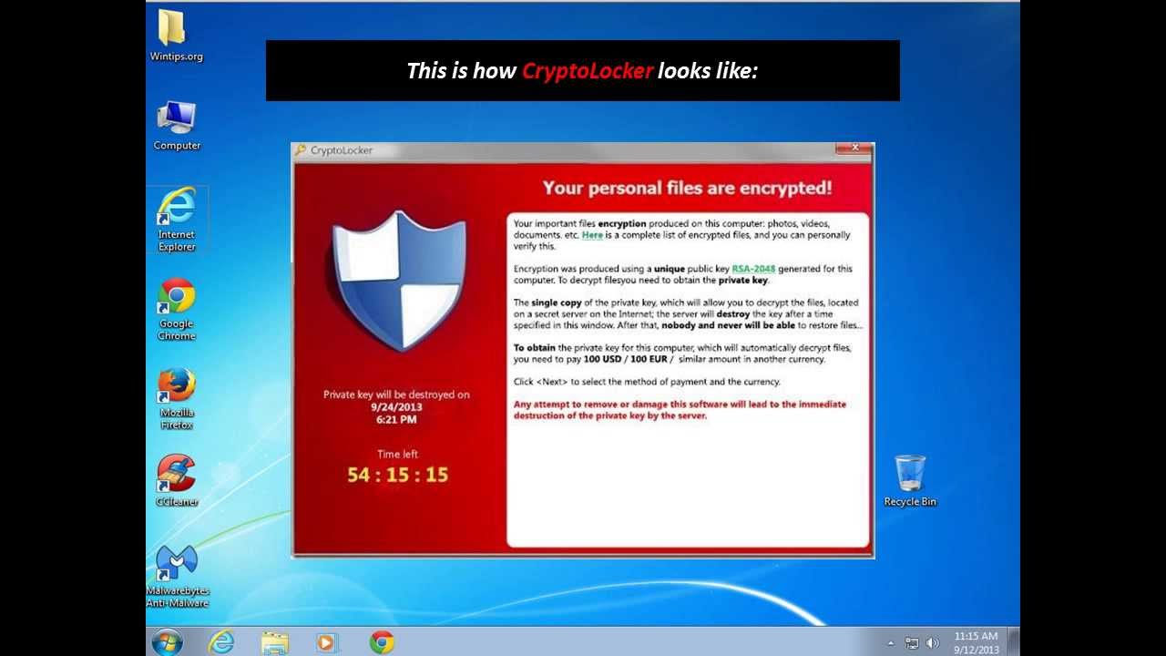 How to remove CryptoLocker Ransomware and Restore your files