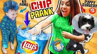 CHIP Joke & Puppy Surgery Boo Boo  + FGTEEV Gaming 1st Reaction FUNnel Vision Family Vlog
