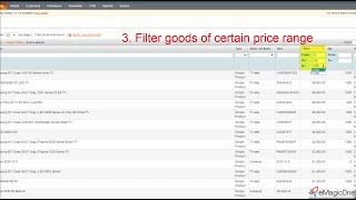 How to Filter Magento Products by Price