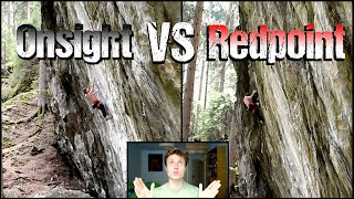 Rock Climbing Science : Onsight VS Redpoint Analysis | What makes a good Onsight Climber ? by Mani the Monkey