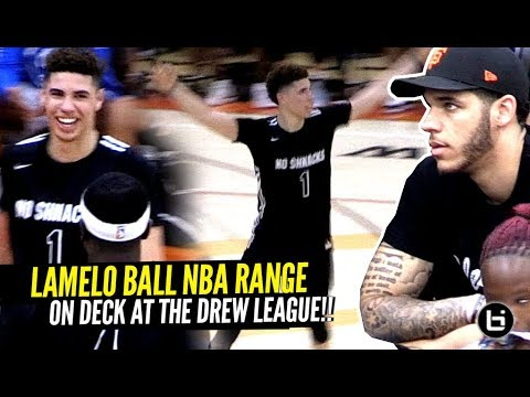 LaMelo Ball GOES DUMMY & Shows OFF NBA RANGE At The Drew League W/Lonzo Watching!!