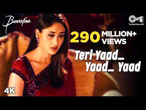 Teri Yaad...Yaad...Yaad - Video Song | Bewafaa | Anil Kapoor & Kareena Kapoor