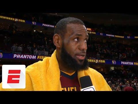 LeBron James after Cavaliers' win over Raptors: 'Do you believe me yet?' | ESPN (видео)