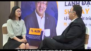 Dr Alok Bharadwaj CreoVate in a TV talk on Change Management