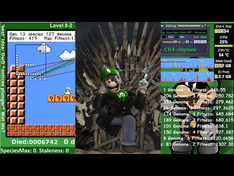 LuigI/O - An AI Learning To Play The Lost Levels (SMB2J)