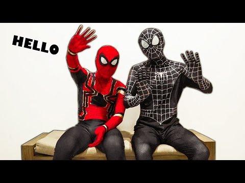 NGƯỜI NHỆN đến thăm nhà VENOM   SPIDER-MAN and VENOM in real life - Thời lượng: 13 phút.