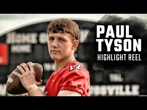 Bear Bryant's great grandson, Paul Tyson's, highlights from Alabama high school