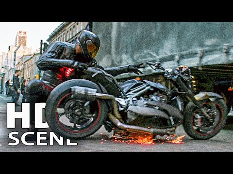 Brixton's Motorcycle Transformation Scene -  HOBBS AND SHAW Movie Clip (2019)