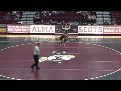 Alma College Wrestling vs. Grand Valley State University - January 11, 2012