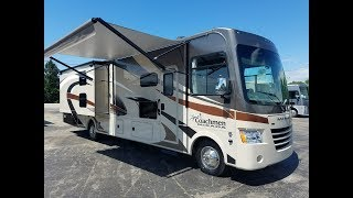 """One of the best value class A RVs on the market! Welcome to the Coachmen Mirada 35BH. This floorplan features sleeping for up to 10 people as well as 2 slides and 2 bathrooms! Options installed by the manufacturer include: Power drop down bunkStainless steel appliance package 32"""" LCD galley TVOutside entertainment with 32"""" TV & DVD playercall or visit to learn more!"""