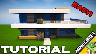 Minecraft Simple Modern House Tutorial | How to build easy in Minecraft series