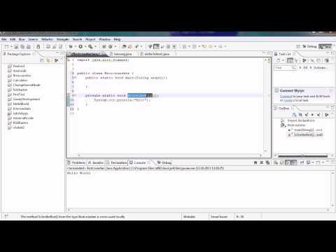 Java Tutorial 10 – Methoden einführung