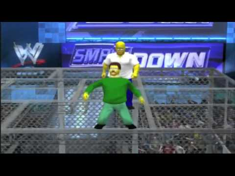 Homer Simpson vs Ned Flanders Hell In A Cell