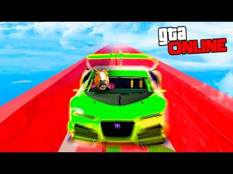 АДСКИЕ ГОНКИ НА НЕВОЗМОЖНЫХ СПИРАЛЯХ ПОД ТЕКСТУРКАМИ В GTA 5 ONLINE (видео)
