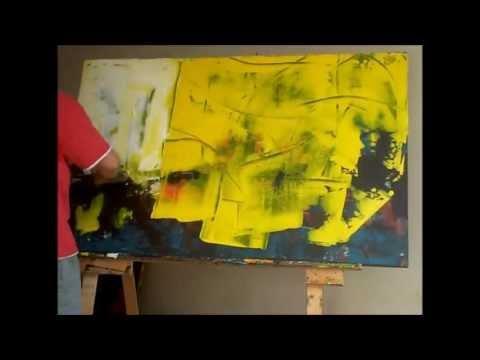 Abstrakte Malerei art langweilige Kunst