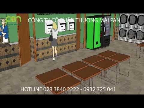 Thiết kế nhà giặt công nghiệp tự phục vụ