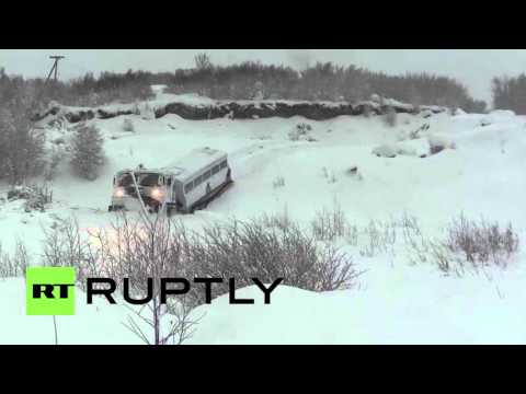 Russia: Arctic infantry test drive new Ruslan ATV on mountainous snow (видео)