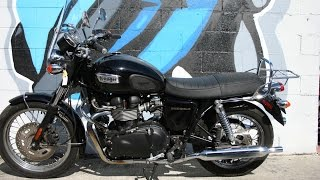 8. 2009 Triumph Bonneville T100 Motorcycle For Sale