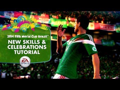 EA SPORTS 2014 FIFA World Cup - New Skills and Celebrations Tutorial видео