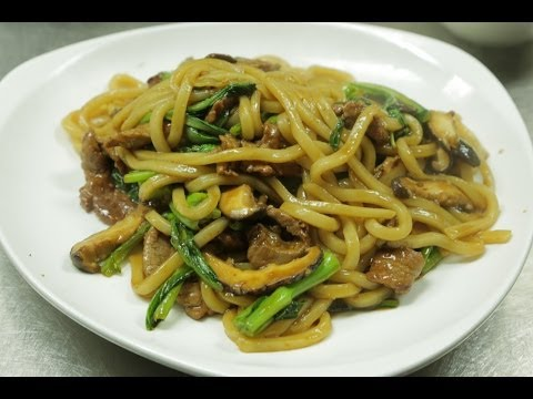 Stir Fried Udon Noodles With Beef