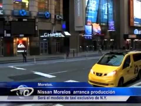 Morelos.-  Nissan Morelos  arranca producción. Será el modelo de taxi exclusivo de N.Y.