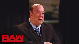 Paul Heyman breaks his silence about Brock Lesnar: Raw, Aug. 6, 2018