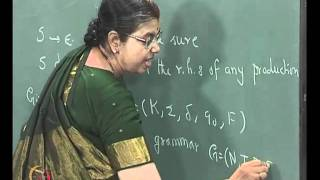 Mod-02 Lec-12 EQUIVALENCE BETWEEN FSA AND TYPE 3 GRAMMARS