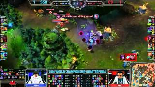 C9 Meteos Fail Kha'Zix Jump - C9 VS SSB - S4 Worlds LoL MomentsLeague of Legends LCS HighlightsLike us on Facebook : http://on.fb.me/1k7FA5oFollow us on Twitter : http://bit.ly/1pFYvk4Google+ : http://bit.ly/1rGSdDCIf you want to see more League of legends highlights, Please hit the subscribe button for more entertainment. :)Partner with Freedom! ➜ http://www.freedom.tm/via/LoLLCSHighlights07 - Be free.Get more views!➜ http://www.freedom.tm/grow - Grow with us.Become a network!➜ http://www.freedom.tm/network