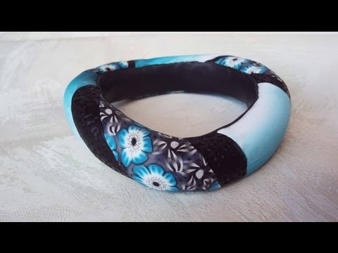 bracciale bangle in fimo