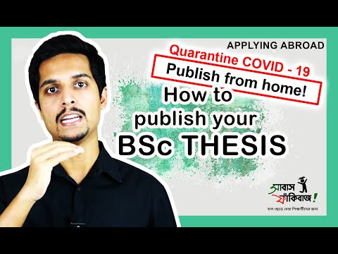 Publish your B.Sc. thesis – in a few simple steps – for Bangladesh students