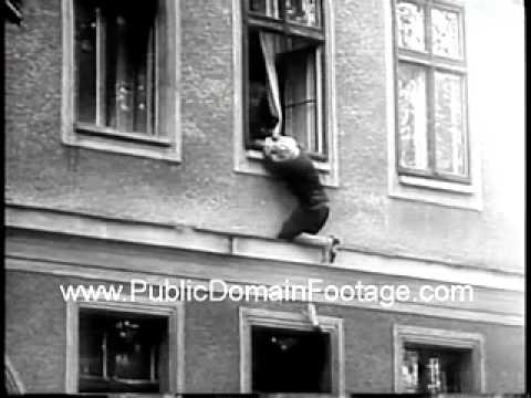 East Berliners Jump To Freedom And Cross The Berlin Wall To Escape Newsreel PublicDomainFootage.com