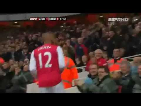 Arsenal Vs Leeds 1-0 Thierry Henry Goal (English Commentary)