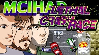 Hoo boy, let's hope we don't have another Millie Miglia on our hands, here! Nope, this is LETHAL CRASH RACE, the combat racing game that makes up for a lack of creativity in the title with an abundance of creativity in the unsettling character designs. You got the usual gamut: eerie differently-aged twins, androgynous polymaths, and able-bodied strongmen with an insatiable appetite for both action and household insects. But the real twist comes (in more than one sense! ;) ) from the man's moustache! Anyway, here's another ten minutes of Kyle flailing wildly with some unforgiving controls before getting pile driven into the dirt. Patreon: http://www.patreon.com/troubleplanetTrouble Planet gets sosh:Facebook: https://www.facebook.com/Troubleplanet/Twitter: https://twitter.com/troubleplanet--------------------------------------Lethal Crash Race is, as the title suggests, a racing game. The player chooses one of eight international characters then races one-on-one against the other characters (and the recolor of her/his own). Each race takes place in a different location around the world, and each character has her or his own ending, making the character interaction rather similar to that of Sonic Wings.Lethal Crash Race marks the first appearance of Ellen and Cincia, who later feature in most of the Sonic Wings games.--------------------------------------Lethal Crash Race Arcade, Lethal Crash Race arcade cabinet, Lethal Crash race Sonic Wings, Sonic Wings arcade spinoff, Let's Play, arcade let's play, retro game let's play, Mom Can I Have Another Dollar, old school games, classic video games, MCIHAD, trouble planet, MAME (Software), youtube gaming, retro gaming, MAME Let's Play, Emulator Let's Play, arcade games, coin operated games, coin op, 90s arcade games, 80s arcade games, Head to Head Arcade,