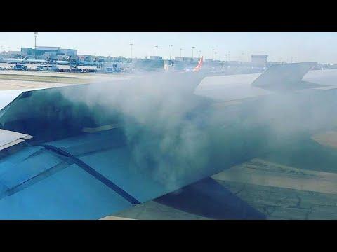 Atlanta (USA): Flugzeug muss nach Feuer im Triebwe ...