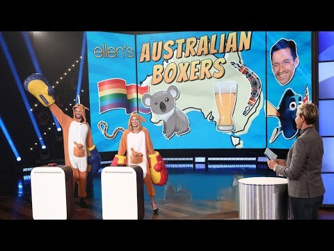 Margot Robbie and Chris Hemsworth Hilariously Duke It Out On Ellen For The Title Of Best Aussie