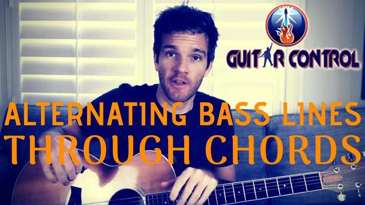 Alternating Bass Lines Through Chords – Easy Acoustic Guitar Lesson For Beginners