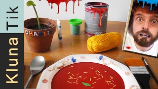 EATING PAINT SOUP!! Kluna Tik Dinner #52   ASMR eating sounds no talk