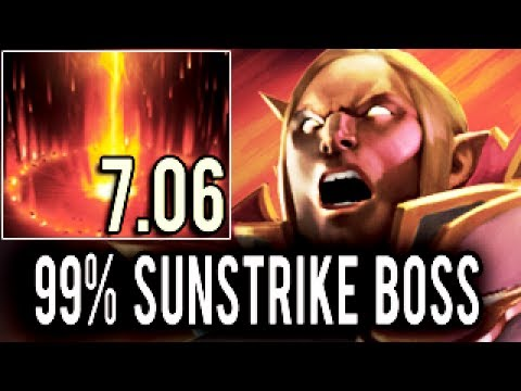 99% Sunstrike Everywhere 9k Invoker Show by OG.Ana 7.06 Dota 2 MMR Gameplay