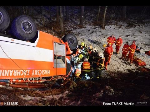 HZS MSK: Tragická nehoda dobrovolných hasičů na Karvinsku