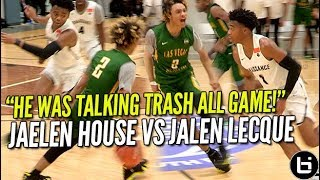 That Shadow Mountain Boy Jaelen House Vs Jalen Lecque! Battle at Nike EYBL! Ballislife Highlights