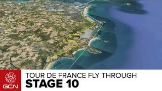 Tour De France 2013 Stage 10 Fly Through