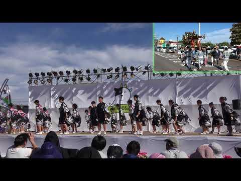 鏡石・牧場の朝(オランダ秋祭り)鏡石中学校生徒のよさこい演舞