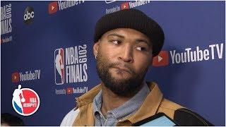 DeMarcus Cousins calls Raptors fans 'trash' for cheering Kevin Durant's injury | 2019 NBA Finals