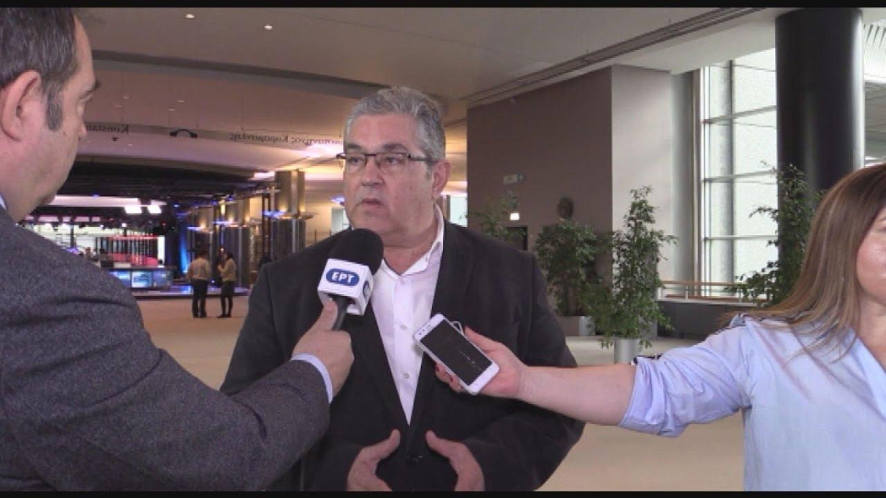 Ο Δ. Κουτσούμπας, στην Ευρωπαϊκή Κομμουνιστική Συνάντηση, στις Βρυξέλλες