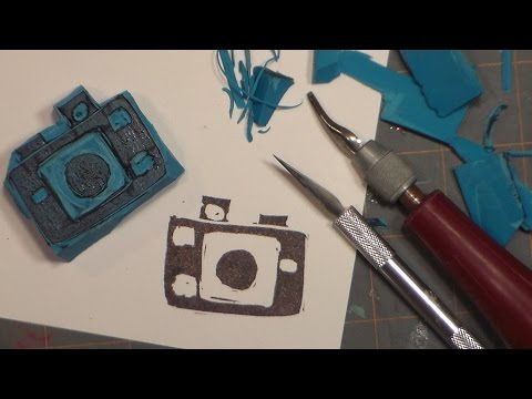 WOW! DIY Stamps from Erasers! {Stamp Carving for Beginners!}