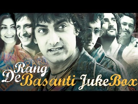 Rang De Basanti Jukebox:  Presenting the Full Audio Song Jukebox from the Bollywood movie Rang De Basanti starring Aamir Khan, Siddharth Narayan, Soha Ali Khan, Kunal Kapoor, Madhavan, Sharman Joshi, Atul Kulkarni and British actress Alice Patten in lead roles.The movie is a new-age patriotic drama, directed by Rakeysh Omprakash Mehra.Music Label - Sony Music Entertainment India Pvt. Ltd.© 2015 Sony Music Entertainment India Pvt. Ltd.Subscribe:Vevo - http://www.youtube.com/user/sonymusicindiavevo?sub_confirmation=1Like us:Facebook: http://www.facebook.com/SonyMusicIndia Follow us:Twitter: http://twitter.com/sonymusicindiaG+: http://plus.google.com/+SonyMusicIndia
